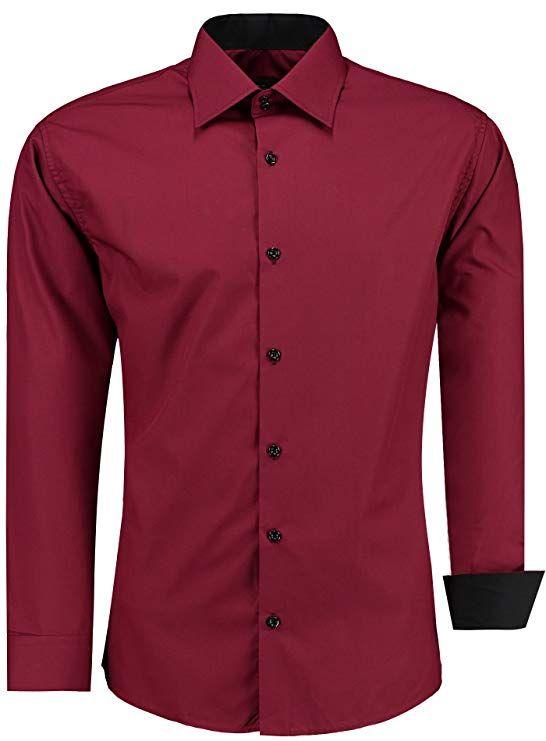 Herren-Hemd – Slim Fit – Bügelleicht – Langarm-Hemd für Hochzeit, Busine…