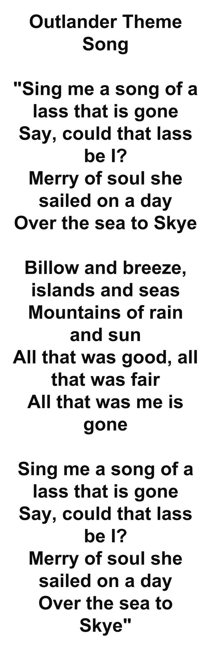 Outlander Theme Song