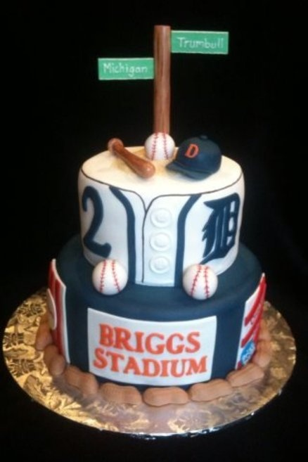 Detroit Tigers Baseball Birthday Cake