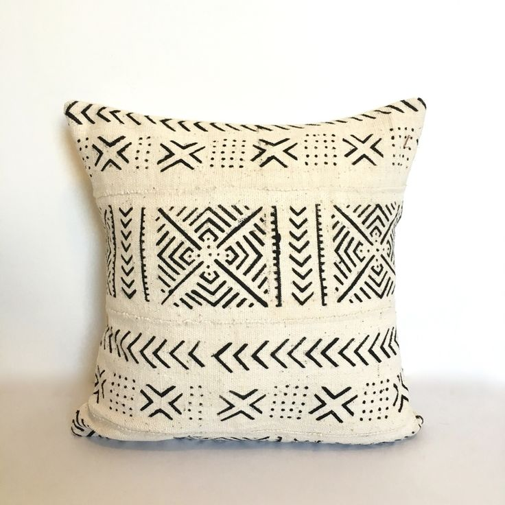 African mud cloth pillow - Loom & Kiln