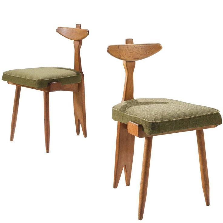 Guillerme et Chambron Tripod Sidechairs