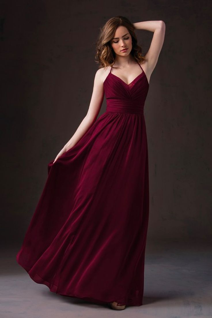#BridesmaidDresses. Style L184059 in #cranberry. Jasmine