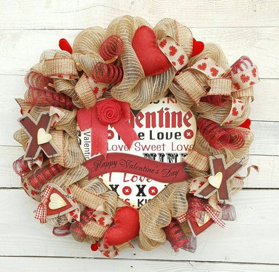 Check out this item in my Etsy shop https://www.etsy.com/listing/488712874/valentine-wreath-happy-valentines-day