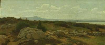 Marina a Castiglioncello (1864) di Raffaello Sernesi #arte
