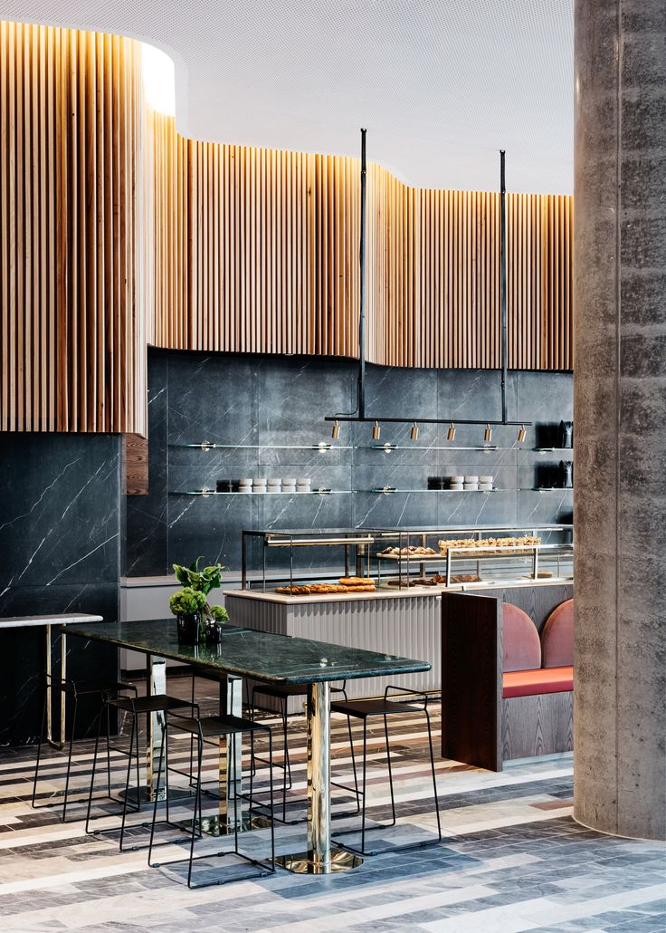 """The """"restrained opulence"""" of historic banks and treasuries informed the interior of this coffee shop in Sydney, designed by Studio Tate."""