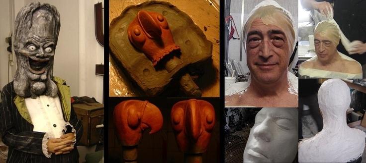 Maschere Calco   mold making