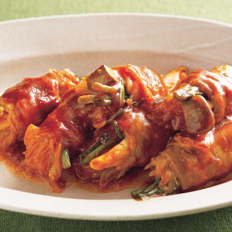 しらたきの肉巻きポークチャップ | 井澤由美子さんの肉巻きの料理レシピ | プロの簡単料理レシピはレタスクラブニュース