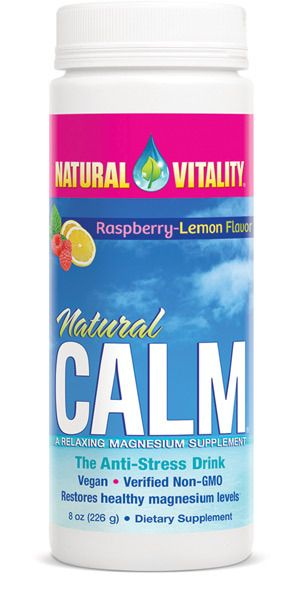 Nature's Happiness - Natural Vitality Natural Calm Magnesium, Raspberry-Lemon, $21.95 (https://www.natureshappiness.com/natural-vitality-natural-calm-magnesium-raspberry-lemon/)