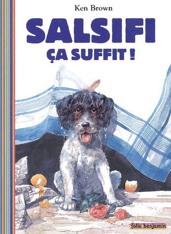 CPRPS 31997000919092 Salsifi ça suffit. Salsifi le petit chien turbulent multiplie les 400 coups. Il se cherche un ami pour jouer, mais il est trop sale. Les animaux ne veulent pas, sauf... le cochon. Une présentation sympathique de quelques animaux de la ferme. [SDM]