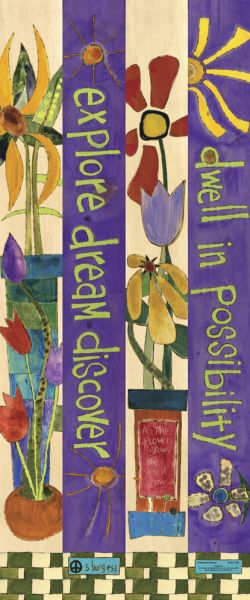 """Dwell in Possibility"" 3-foot Peace Pole - Thumbnail 1                                                                                                                                                     More"