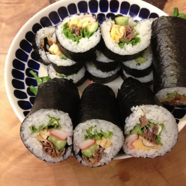 3合〜 - 5件のもぐもぐ - 節分*巻き寿司 by COOKb