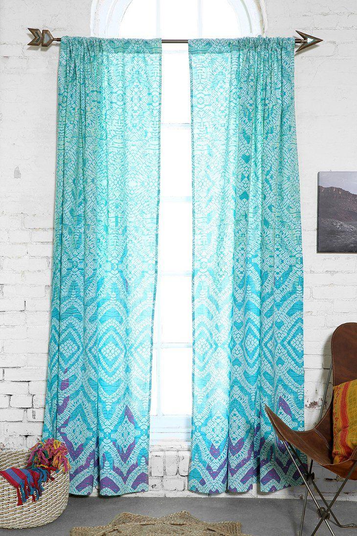 Drop cloth curtains dyed - Plum Bow Tie Dye Curtain