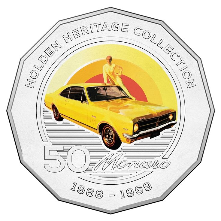 50c 2016 Holden Heritage Collection - HK Monaro reverse
