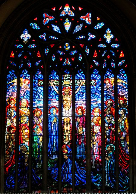 The Crucifixion, Great East Window, St George's Cathedral, Southwark by L'habitant, via Flickr
