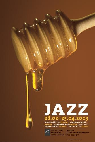 Jazz Poster for Finnish National Gallery's Ateneum Hall | Designed by: Pekka Piippo