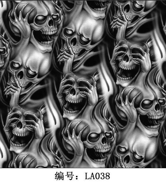 Skull Grey LA038 Water Transfer Printing Film