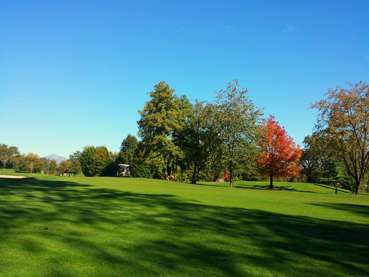 Autumn on the Golf Course. Golf Club Udine - Fagagna, Italy.