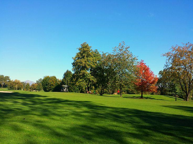 Autumn on the Golf Course. Golf Club Udine - Fagagna, Italy.