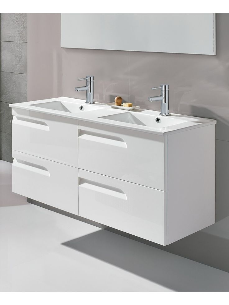 pravia white 120cm vanity unit 4 drawer and basin. Black Bedroom Furniture Sets. Home Design Ideas