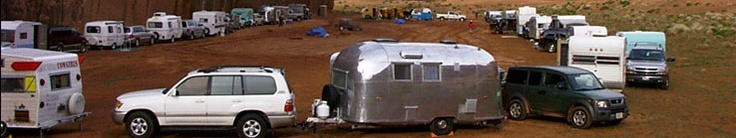 A group of women-only campers and their awesome vintage trailers!