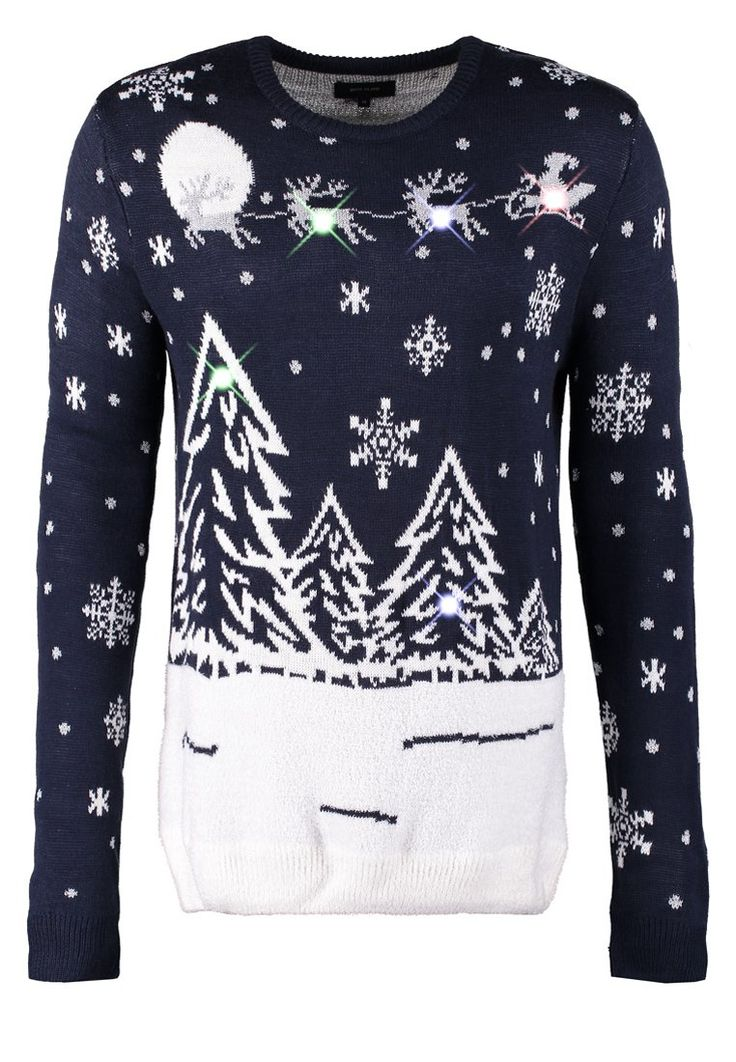 River Island - SCENE WHITE LIGHTS - Strikpullover /Striktrøjer - navy 299,-