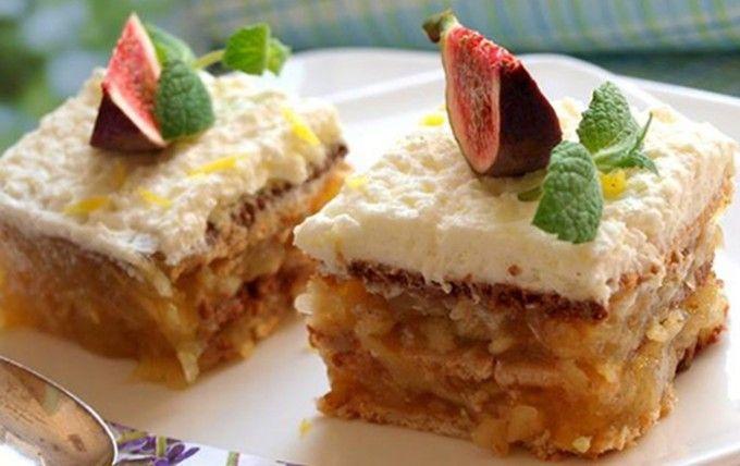 Jablečné řezy bez pečení