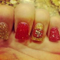 OH BABY! San Francisco 49ers nails!!