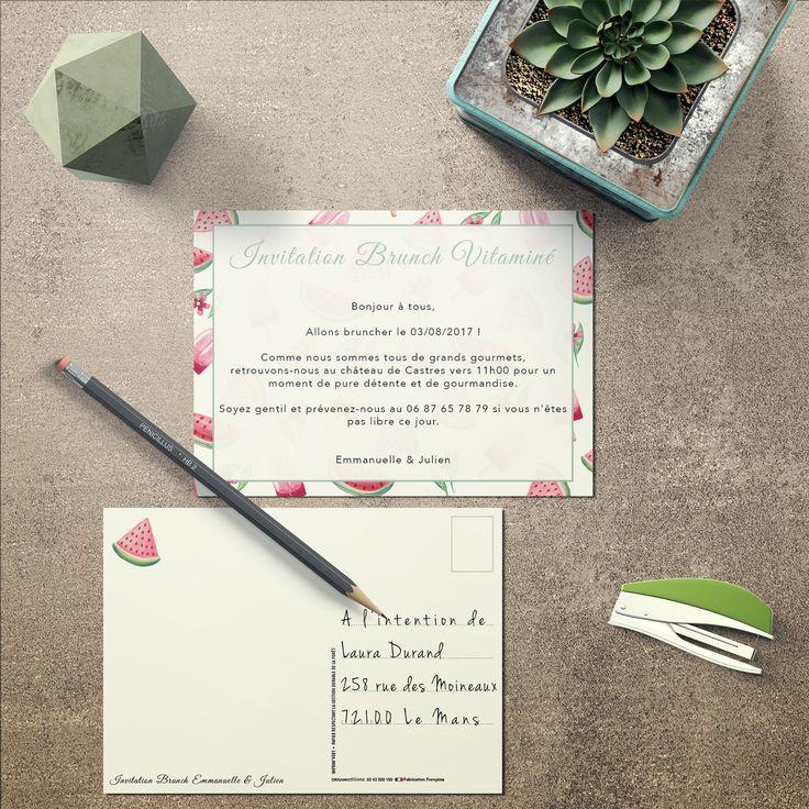 Invitation brunch ! Carte postale personnalisée !!!!   Carte postale, Carte, Carte postale photo