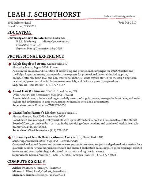 Resume Format 2013 Download