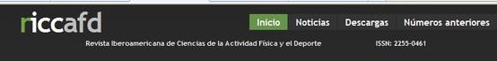 La Revista Iberoamericana de Ciencias del Deporte (Riccafd), es una publicación periódica, con el objetivo de ofrecer trabajos científicamente fundados, que ayuden a profundizar en las diversas dimensiones de las Ciencias de la Actividad Física y del Deporte.  Colecciones en esta comunidad:      Riccafd Vol. 1, nº 1 (2012)     Riccafd Vol. 2, nº 1 (2013)