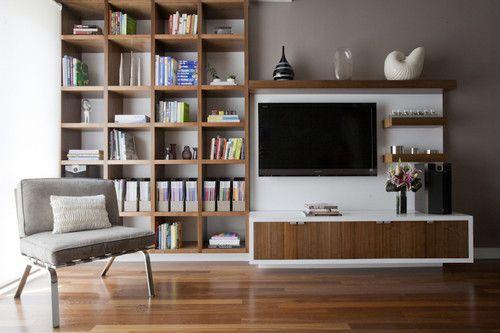TV shelves - asymmetrical