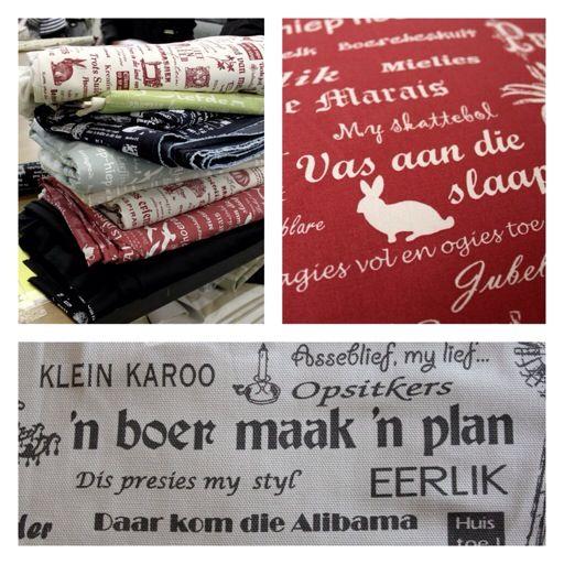 Afrikaans print on fabric | Afrikaanse lap