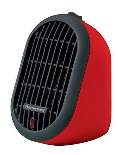 Honeywell HCE100R Heat Bud Ceramic Heater Safe Tip Over Protection Red