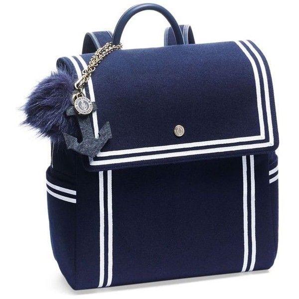 TOMMYXGIGI Nautical Backpack ❤ liked on Polyvore featuring bags, backpacks, miniature backpack, mini rucksack, blue backpack, mini backpack and knapsack bag