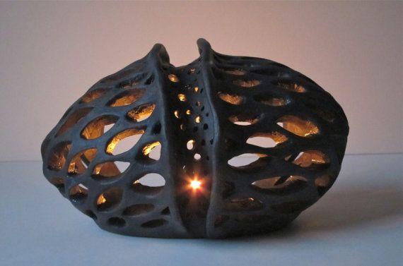 Vela votiva titular linterna cerámica té cerámica por EarthXFire