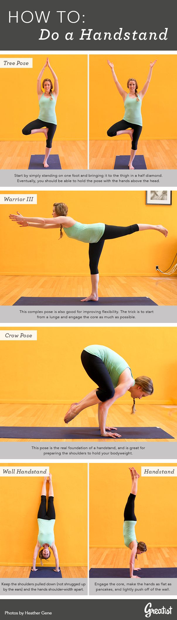 Handstands don't just look awesome, they improve strength and balance. #yoga http://greatist.com/fitness/so-you-want-to-do-a-handstand