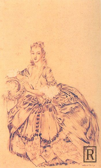 Madame Du Barry in Retirement. Artist Unknown. (18thcenturylove.tumblr.com).