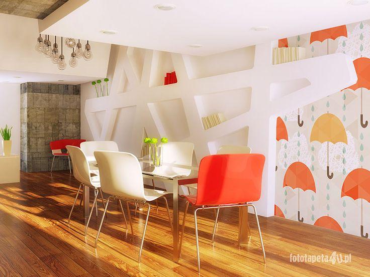 Umbrella pattern wallpaper