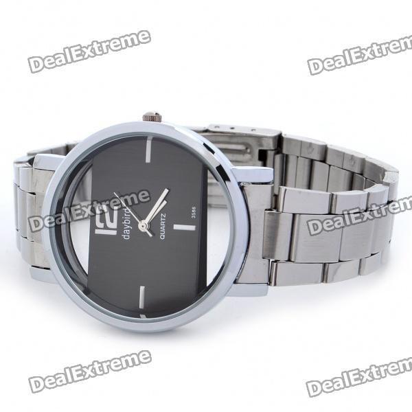 DayBird Rectangle Style Stainless Steel Quartz Wrist Watch - Silver (1 x LR626)