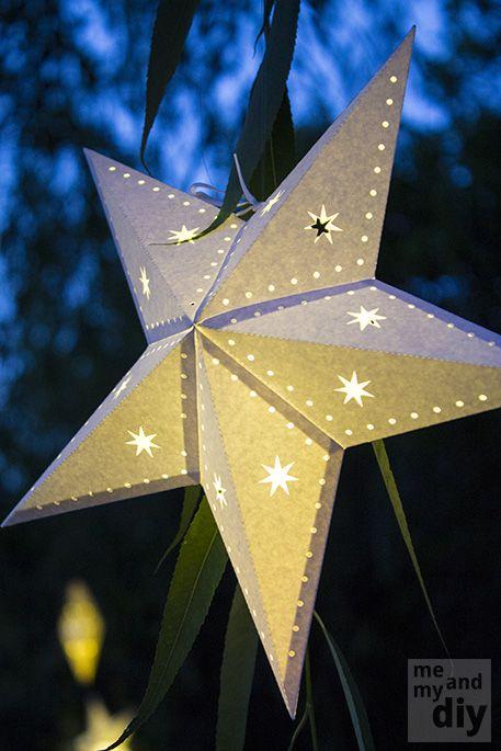 diy paper star lanterns and free cutting files