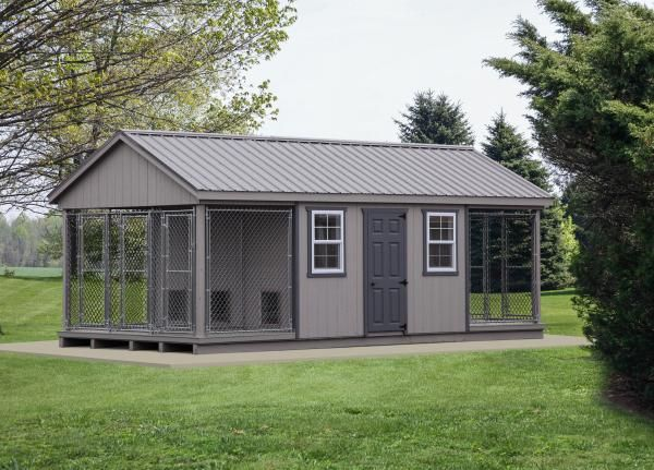 Large Dog Kennels And Dog Runs Climate Controlled Available In 2020