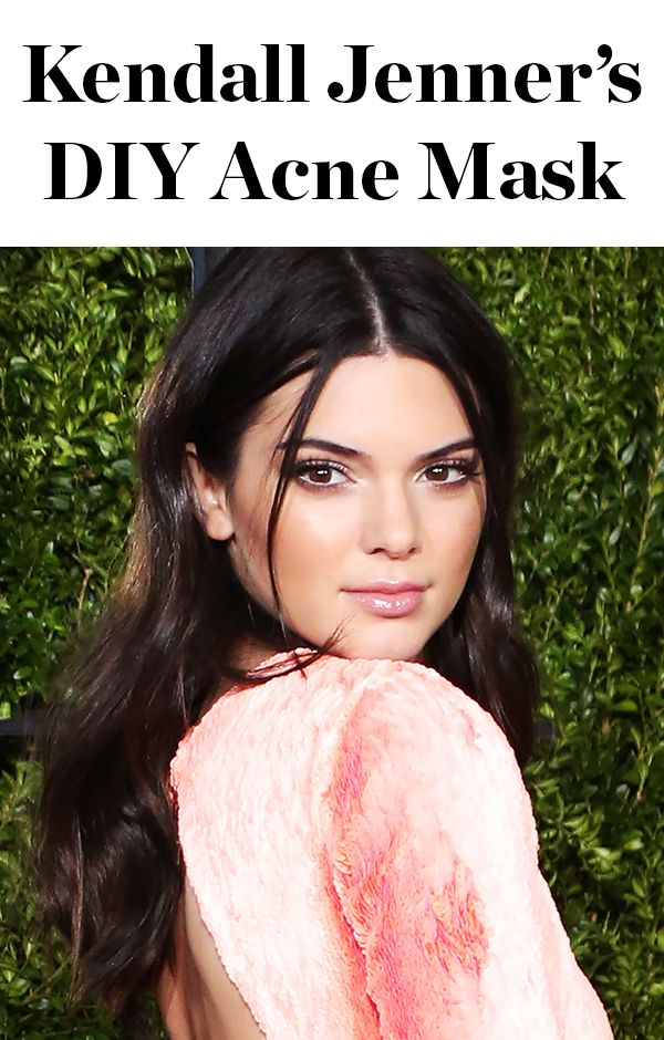 DIY acne treatment - click through for the mask Kendall Jenner uses, straight from her kitchen!