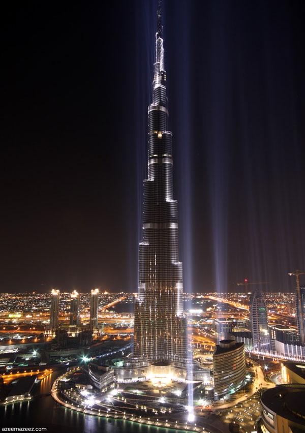 Dubai Skyscrapers in the Night View