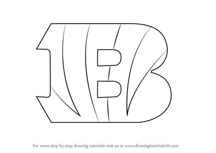 How To Draw Cincinnati Bengals Logo Drawingtutorials101 Com Football Coloring Pages Cincinnati Bengals Bengals