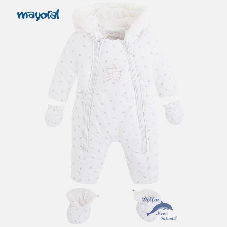 Buzo de bebe MAYORAL NEWBORN estampado estrellitas color crudo