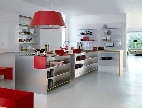 10 Stylish Stainless Steel Kitchen Designs - Decorextra