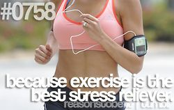 because exercise is the best stress reliever #reasonstobefit