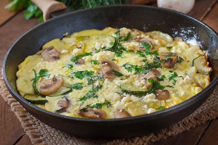 Zucchini Pilz Frittata