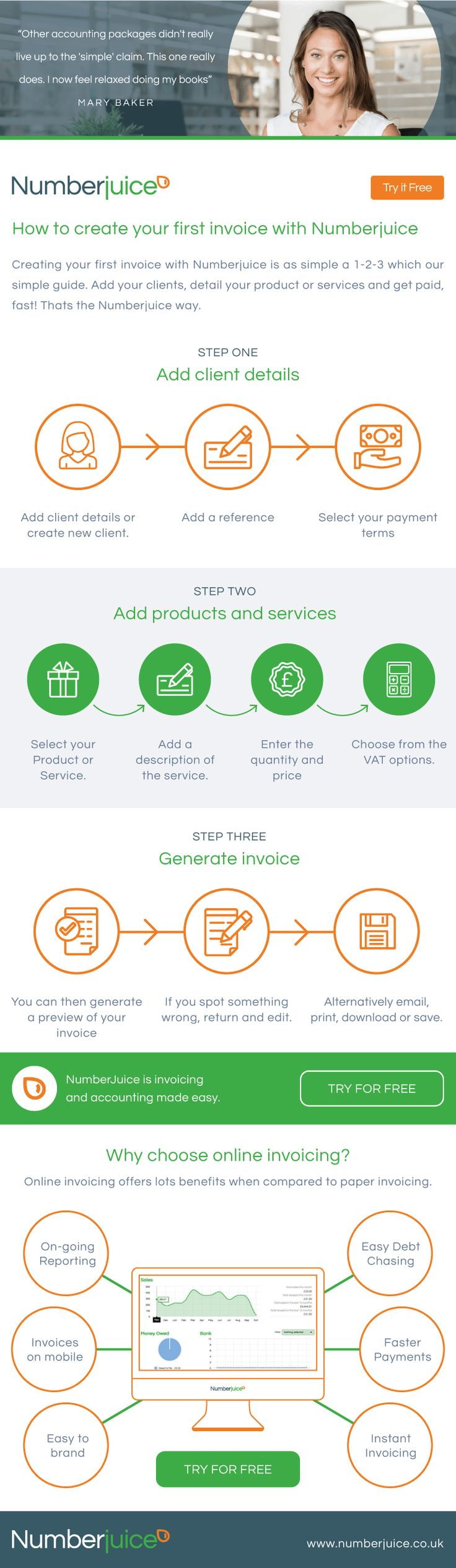 How to create your first invoice with Numberjuice - #Infographic