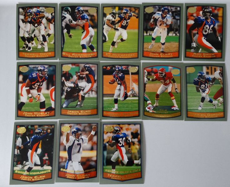 1999 Topps Denver Broncos Team Set of 13 Football Cards #DenverBroncos